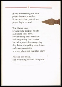 Tao Te Ching Chapter 3 Stephen Mitchell