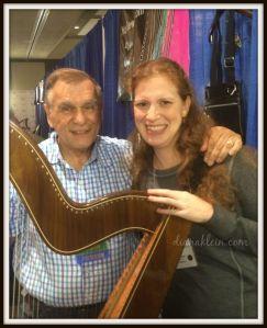 Dr. Ortiz, his beautiful harp, and me!