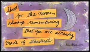 Shoot for the moon, always remembering that you are already made of stardust. |Audacity Lessons| dianaklein.com